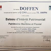 Doffen, Bateau d'Intérêt Patrimonial