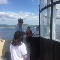Visite du phare du Rouveau des élèves de 5ème patrimoine de Font de Filliol