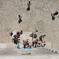 Sortie au Rouveau en pointu de la classe 6ème patrimoine collège Font de Fillol