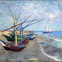 Barques de pêches aux Saintes-Maries, Vincent van Gogh 1888