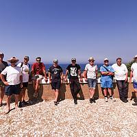 Les membres de Lou Capian sur l'île du Rouveau